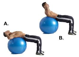 abs exercise on a ball